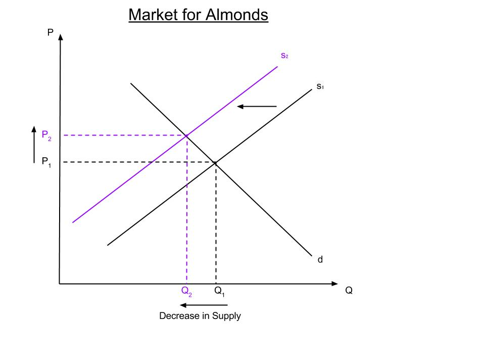 Change in Supply Graph Almond Supply Amp Demand Graph